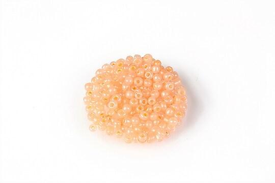Margele de nisip 2mm (50g) - cod 634 - portocaliu deschis perlat