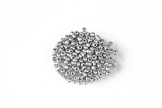 Margele de nisip 2mm (50g) - cod 649 - argintiu