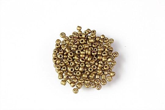 Margele de nisip 2mm (50g) - cod 651 - auriu frosted