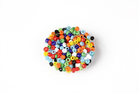 Margele de nisip 2mm (50g) - cod 652 - mix multicolor