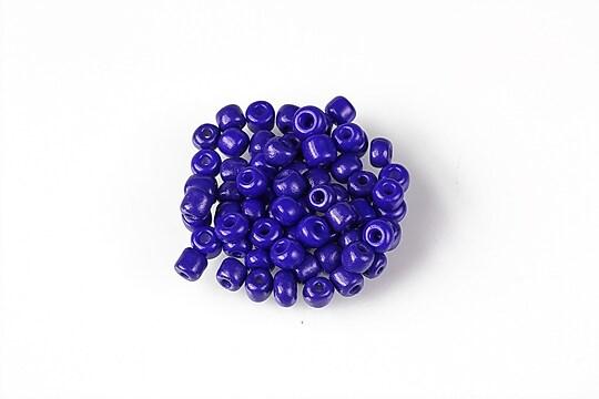 Margele de nisip 4mm  (50g) - cod 661 - albastru cobalt opac