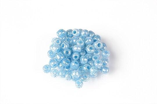 Margele de nisip 4mm  (50g) - cod 662 - albastru deschis perlat