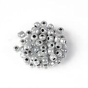 Margele de nisip 4mm  (50g) - cod 685 - gri deschis perlat