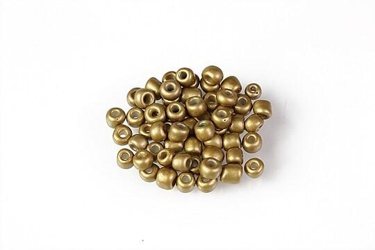 Margele de nisip 4mm  (50g) - cod 686 - auriu frosted