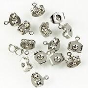 Stoppere metalice argintiu inchis cu agatatoare (2buc.)