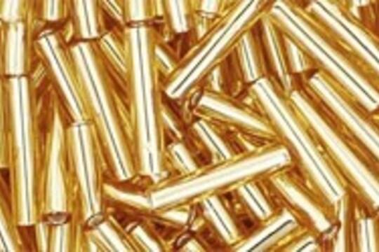 Margele Toho BUGLE 9mm - Silver-Lined Med Topaz