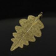 Pandantiv frunza naturala electroplacata 58-60x28-32mm - auriu