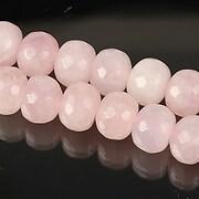 Cuart roz rondele fatetate 8x10mm