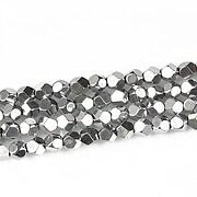 Hematit cub cu fatete 4mm - argintiu inchis