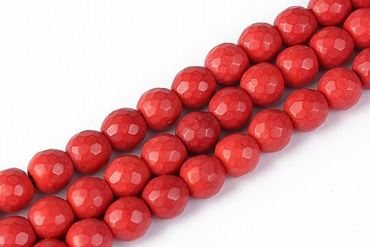 Howlit rosu fatetat, sfere 8mm