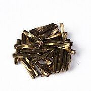 Margele de nisip BUGLE twisted 12mm  (10g) - cod 694 - aramiu