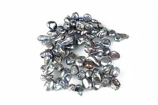 Sirag perle de cultura negre neregulate aprox. 6-7x8-10mm