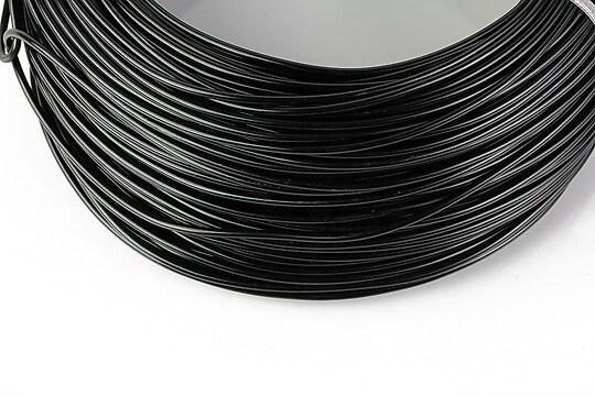 Sarma de modelaj aluminiu, grosime 1,5mm, 1 metru - negru