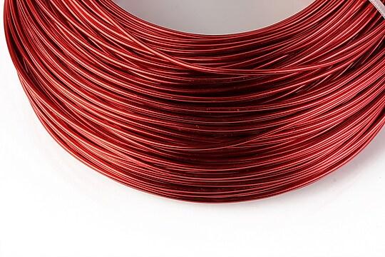 Sarma de modelaj aluminiu, grosime 1,5mm, 1 metru - rosu