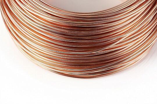 Sarma de modelaj aluminiu, grosime 1,5mm, 1 metru - rose gold