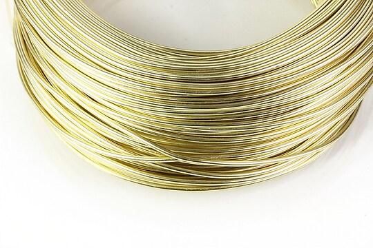 Sarma de modelaj aluminiu, grosime 1,5mm, 1 metru - auriu deschis