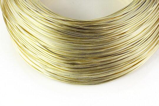 Sarma de modelaj aluminiu, grosime 1mm, 1 metru - auriu deschis