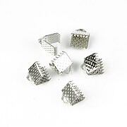Capat snur argintiu inchis latime 6mm (6x7mm) (10buc.)