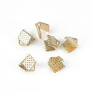 Capat snur rose gold latime 6mm (6x7mm) (10buc.)