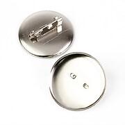 Baza brosa argintiu inchis cu platou 29mm