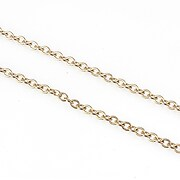 Lant otel inoxidabil rose gold, zale 3x2x0,5mm (49cm)