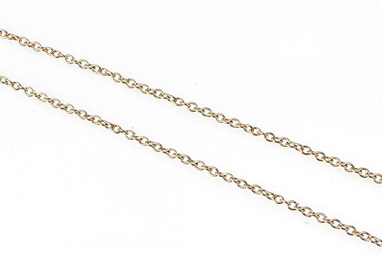 Lant otel inoxidabil rose gold, zale 2x1,5x0,4mm (49cm)