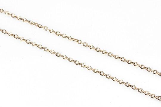 Lant otel inoxidabil rose gold, zale 2x1,5x0,3mm (49cm)
