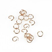 Zale otel inoxidabil 304 rose gold, 5mm (grosime 0,7mm) (20 buc.)