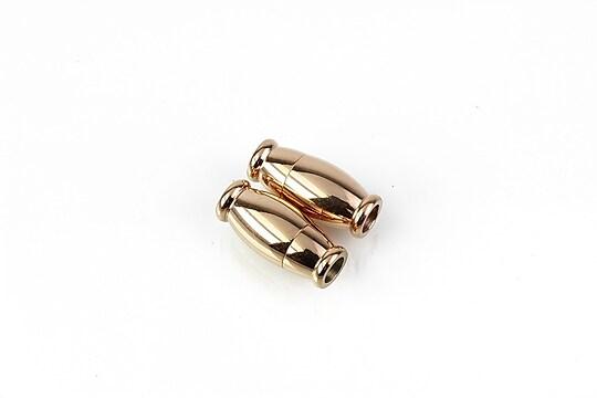 Inchizatoare magnetica otel inoxidabil 304 rose gold 14x6,5mm, interior 3mm