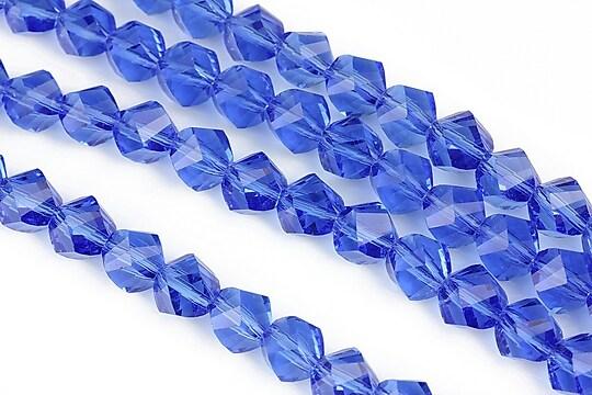 Cristale multifatetate 7mm  - albastru cobalt