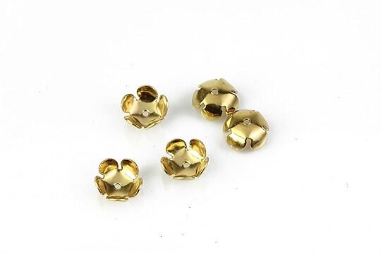 Capacele otel inoxidabil 304 auriu floare 5 petale 8mm