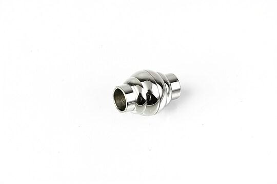 Inchizatoare magnetica otel inoxidabil 304 pentru snur, 15x11mm, interior 5mm