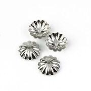 Capacele margele otel inoxidabil 304, floare 10mm