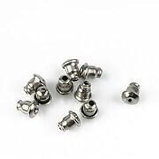 Stoppere metalice cercei otel inoxidabil 304 5x5,5mm (2 buc.)