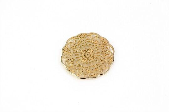 Pandantiv auriu model floral 30mm