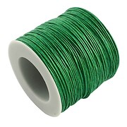 Rola ata bumbac cerat verde iarba, grosime 1mm, rola de 80m