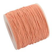 Rola ata bumbac cerat roz piersica, grosime 1mm, rola de 80m