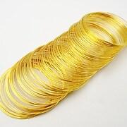 Sarma cu memorie din otel, auriu, diametru  5,5cm, grosime 0,6mm (10 spire)