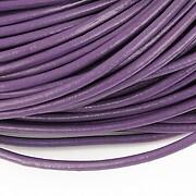 Snur piele naturala grosime 3mm (1m) - mov