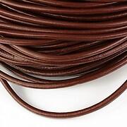Snur piele naturala grosime 3mm (1m) - maro