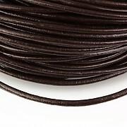 Snur piele naturala grosime 3mm (1m) - maro inchis