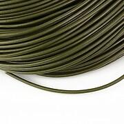 Snur piele naturala grosime 2mm (1m) - verde inchis