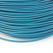 Snur piele naturala grosime 2mm (1m) - albastru
