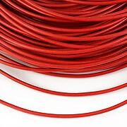 Snur piele naturala grosime 2mm (1m) - rosu