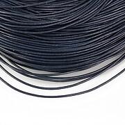 Snur piele naturala grosime 1mm (1m) - albastru inchis