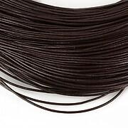 Snur piele naturala grosime 1mm (1m) - maro inchis