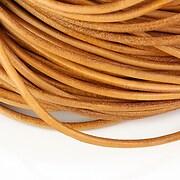 Snur piele naturala grosime 3mm (1m) - maro deschis