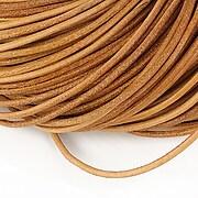 Snur piele naturala grosime 2mm (1m) - maro deschis