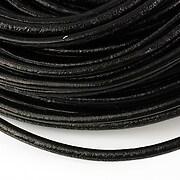 Snur piele naturala grosime 4mm (1m) - negru