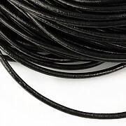 Snur piele naturala grosime 3mm (1m) - negru